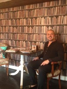 Josh in the salon library