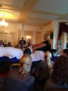 Demonstration of the Afternoon Tea Ritual Model is the Lovely Jen  one of our USA distributors.