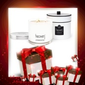 Ode From Heaven - Only £37.00 Contains: 30cl Single Candle choose from 6 aroma's (Scent, Ode, Afternoon Tea, Dream, LIA and Affection). http://www.heavenskincare.com/Products/ChristmasGiftSets.aspx