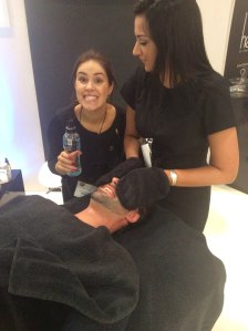 Louise Polak heaven salon manager, Therapist Kirsty Hampton and Next of Kin Drummer Nathan Bass.